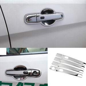 Fit For Ford Explorer 2011 2018 2019 Chrome Steel Outside Door Handle Cover Trim