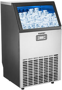 Kuppet Commercial Ice Maker Under Counter freestanding Automatic Ice Machine