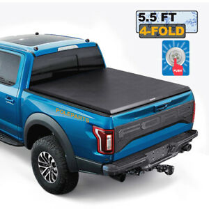 5ft Truck Bed Tri fold For 2019 20 Ford Ranger Soft Tonneau Cover W water Strip