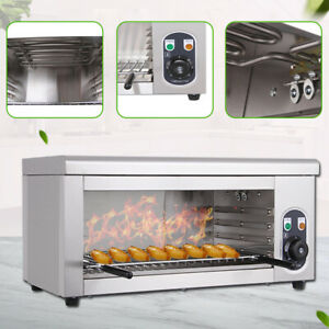 Commercial Broiler Food Electric Cheese Melter Bbq Gril Restaurant Kitchen 2000w
