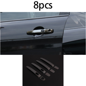 Exterior Outside Door Handle Cover Trim Steel Black For Ford Explorer 2011 2019