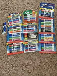Huge Lot Of Expo Dry Erase Markers 12 Packs Over 50 Markers Tropical Primary