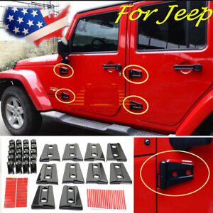 Hood Door Hinge Cover For Jeep Wrangler Jk Jku 2007 2017 Unlimited Accessories