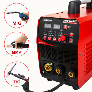 3in1mig Welder Gas Less Flux Core Wire Automatic Feed Welding Machine 15ak