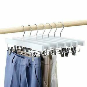 House Day Wooden Pants Hangers 25pcs 14inch Wood Skirt Trousers White