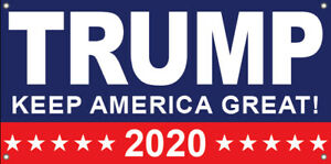 Trump Keep America Great 2020 Vinyl Banner Sign Br Multi Sizes