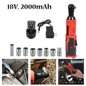 18v Cordless 3 8 Electric Ratchet Impact Wrench Tool W Battery Charger Set