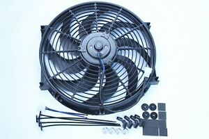 Pc472 14 Heavy Duty Radiator Electric Wide Curved Blade Fan 3000cfm Mounting Kit