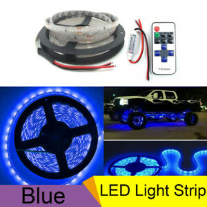 Car Led Strip Bar Underbody Underglow Glow Blue Light W Wireless Control