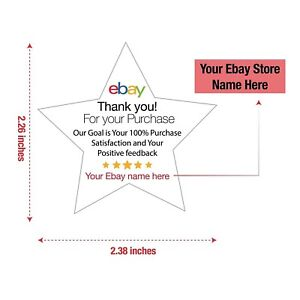 Custom Thank You For Your Ebay Purchase Labels Stickers Seals Size 2 38