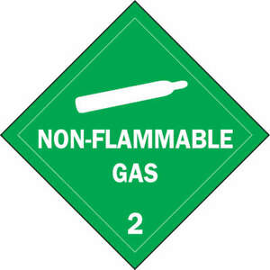 Dot Container Placard 10 3 4 Label W Pk 25 63441