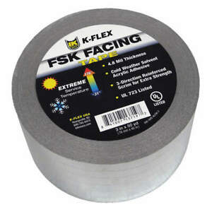 Pipe Insulation Tape silver 150 Ft 4inw Pk 12 800 tape alfsk 4