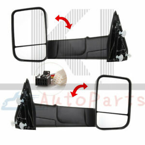 Pair Lh Rh Power Heated Towing Mirrors For 2009 2015 Dodge Ram 1500 2500 3500