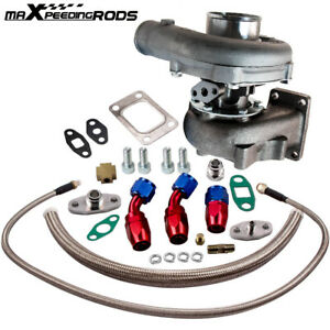 T04e T3 T4 A R 57 73 Trim 400 Hp Stage Iii Turbo Charger Oil Feed Drain Line Kit