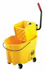 Rubbermaid Commercial Wavebrake 2 0 35 Qt Mop Bucket Yellow