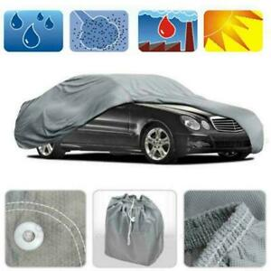 Weatherproof Peva Car Protective Cover With Reflective Light Silver Gray M Size