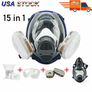 15 In1 Set Respirator Mask Full Face Gas Painting Chemicals Safety For 6800 Us