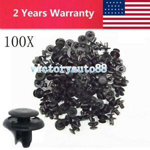 100x Push Type Clip Inner Fender Liner Splash Shield Retainer Fastener For Honda