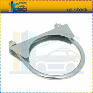 3 Stainless Steel U Bolt Uclamp Muffler Saddle Exhaust Clamp Plated