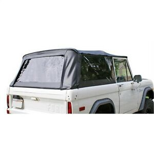 Rampage 98401 Complete Soft Top Kit Black Crush Incl Top frame 66 77 Bronco
