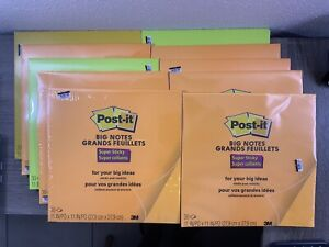 10 Pack 3m Post it Super Sticky Big Notes Pad 11 11 3 10 Are Bent 300 Sheets