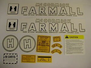 Ihc International Farmall Model H Tractor Decal Set New Free Shipping