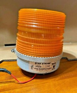 Rooftop Flashing Strobe Light Amber Emergency Hazard Beacon Yellow 12v