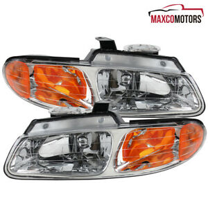 For 1996 2000 Dodge Caravan Chrysler Voyager Town Country Headlights Lamps