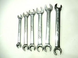 Lot Of 6 Assorted Sizes Snap On Tools Wrenches