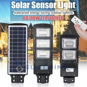 200000LM Commercial LED Solar Street Light Area Security Road IP67 Lamp Parking $54.83