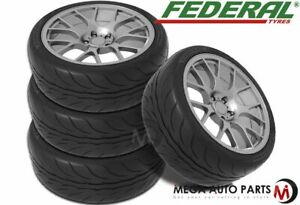 4 Federal 595rs Pro 215 40zr17 87w Xl Extreme Performance 200aa Summer Uhp Tires