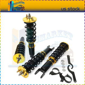 For 1996 00 Honda Civic Coilover Struts Shocks Suspension Spring Kits Adj Height