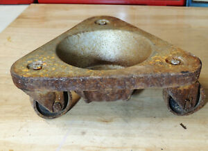 Vtg Bond Steel Wheel 2127 Dolly Truck Casters Tool Furniture Industrial Mover