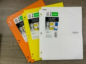 Mead Five Star Quickly Snap Folder Multiple Colors