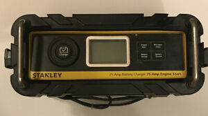Stanley 25 Amp Battery Charger With 75 Amp Engine Start