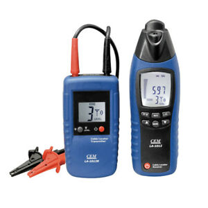 Cem La 1012 General Cable Locator Tester Receiver With Transmitter Line Tracker