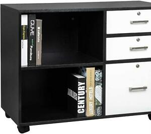 3 drawer Vertical Filing Cabinet For Home Office Modern Style Cabinet With Wheel