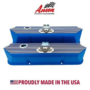 Ford Fe 390 American Eagle Valve Covers Blue Die cast Aluminum Ansen Usa