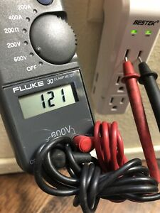 Fluke 30 Clamp Meter 600v 400a 200a Case Battery Resistance Continuity Cat Iii