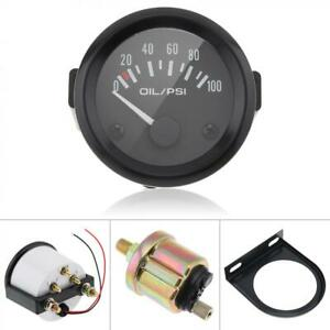 Universal 2 52mm 100psi Digital Led Oil Press Pressure Gauge Sensor Meter Kit