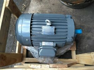 10hp Teco Westinghouse Electric Motor 230 460vac 3 Phase 1755rpm Frame 215tc
