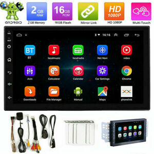 Android 9 1 Car Stereo Gps Navigation Radio Player Double Din Wifi 7 Us Stock