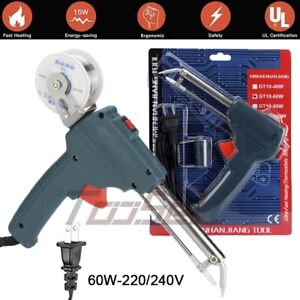 Electronics Soldering 60w 220v Soldering Gun 1 0mm Solder Wire Automatic Tools