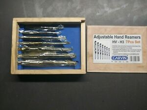 Garvin Tools Adjustable Hand Reamers Hv H3 7pcs Set New