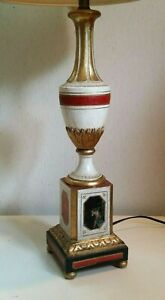 Vintage Italian Tole Gold Florentine Table Lamp Made In Italy Toleware