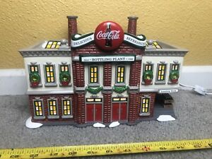 Dept 56 Snow Village Coca-Cola Bottling Plant 5469-0  TESTED  In Original Box