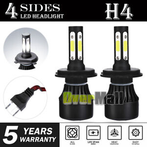 Cree H4 Hb2 9003 2600w 390000lm 4 sides Led Headlight Kit Hi lo Power Bulb 6000k