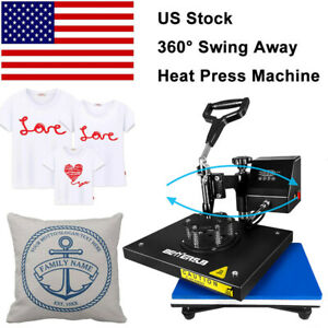 9 x12 swing Away Digital Heat Press Machine Transfer Printing T shirt Mat Flat