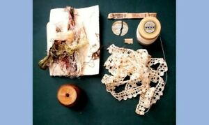 Lot Antique Victorian Silk Lace And Knitting Crochet Thread And Handmade Lace