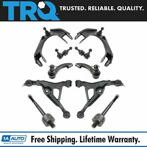 Trq 10 Pc Steering Suspension Kit Control Arms Tie Rods Sway Bar End Links